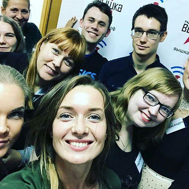 """Спасибо @asyakungurceva  за крутые мастер-классы!!! Наши будущие ведущие (ученики интенсивного курса """"Радиостарт"""") от тебя в восторге!????????"""